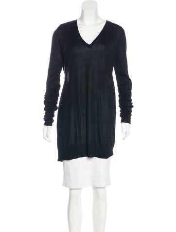 Joseph Silk Long Sleeve Top None