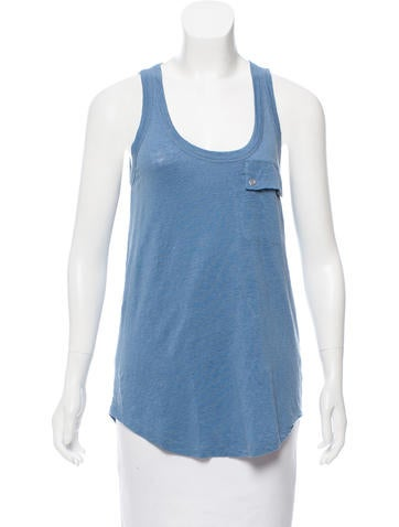 Joseph Linen Sleeveless Top None