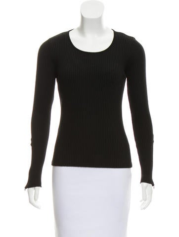 Joseph Rib Knit Wool Top None