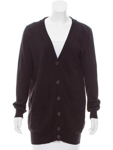 Joseph Leather-Accented Cashmere Cardigan None
