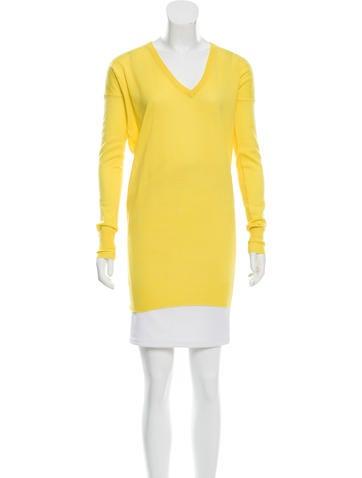 Joseph V-Neck Wool Tunic None
