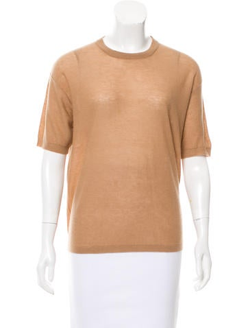Joseph Short Sleeve Cashmere Top None