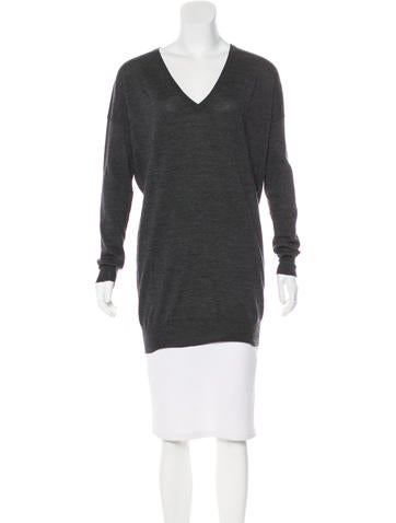 Joseph V-Neck Wool Sweater None