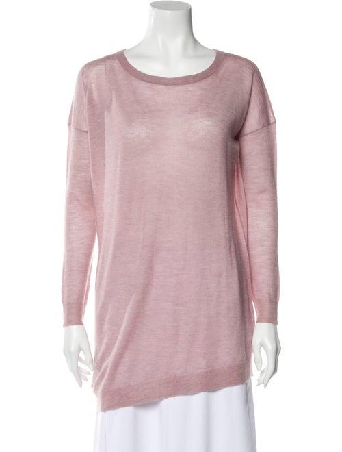 Joseph Cashmere Bateau Neckline Sweater Pink