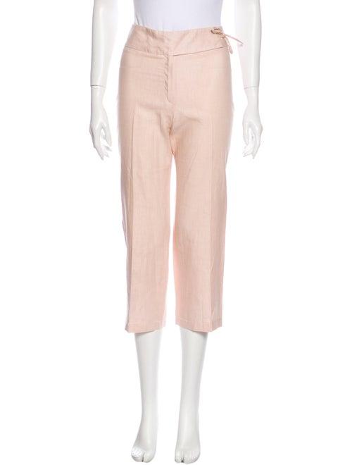 Joseph Linen Straight Leg Pants Pink
