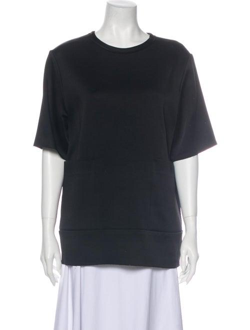 Joseph Crew Neck Short Sleeve Sweatshirt Black