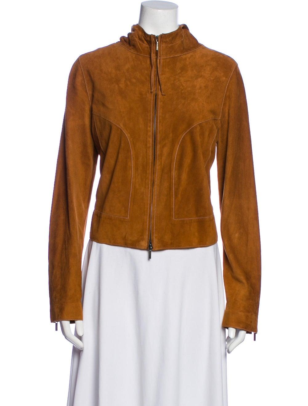 Joseph Leather Biker Jacket Brown - image 1