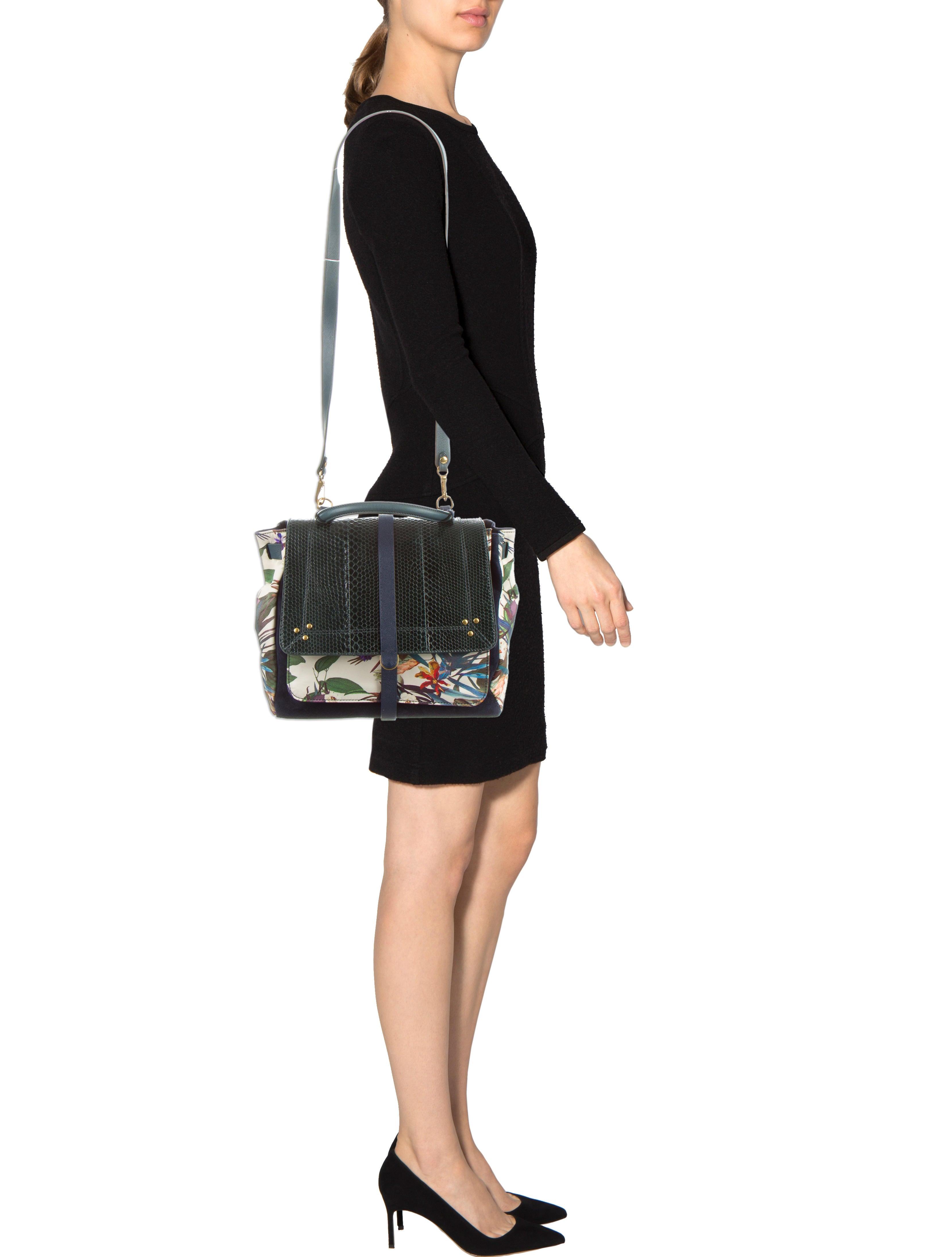 Jerome Dreyfuss Printed Edouard Satchel Handbags