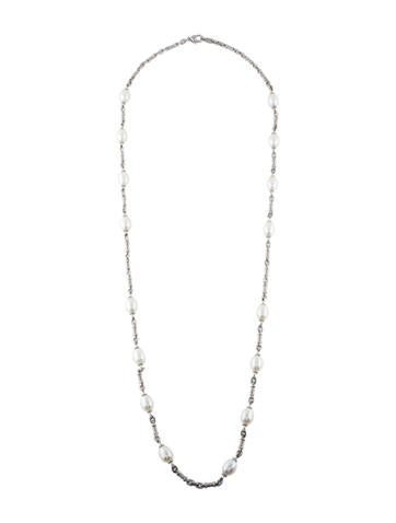 Judith Ripka Pearl Station Necklace