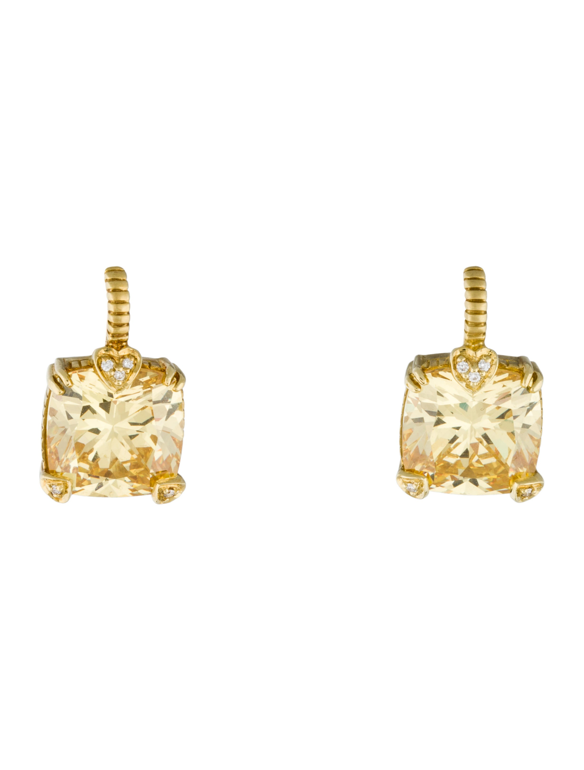 earrings diamonds drop yellow gold dangling canary diamond mainwh designer