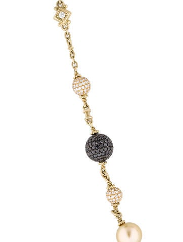 Judith Ripka 18K Pearl & Pavé Diamond Ball Necklace ...