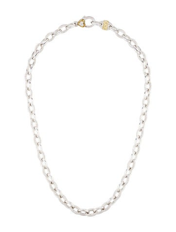 Judith Ripka Two-Tone Link Necklace None