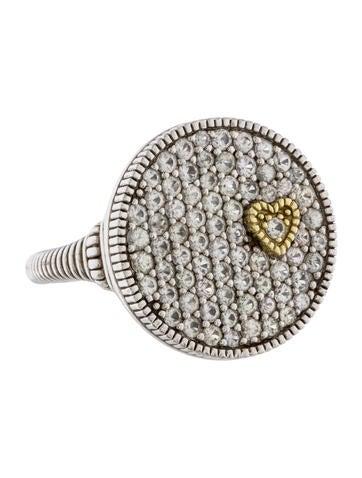 judith ripka pav 233 white sapphire ring rings jrk22421