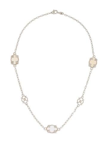 Judith Ripka Agate & Diamond Sautoir Necklace