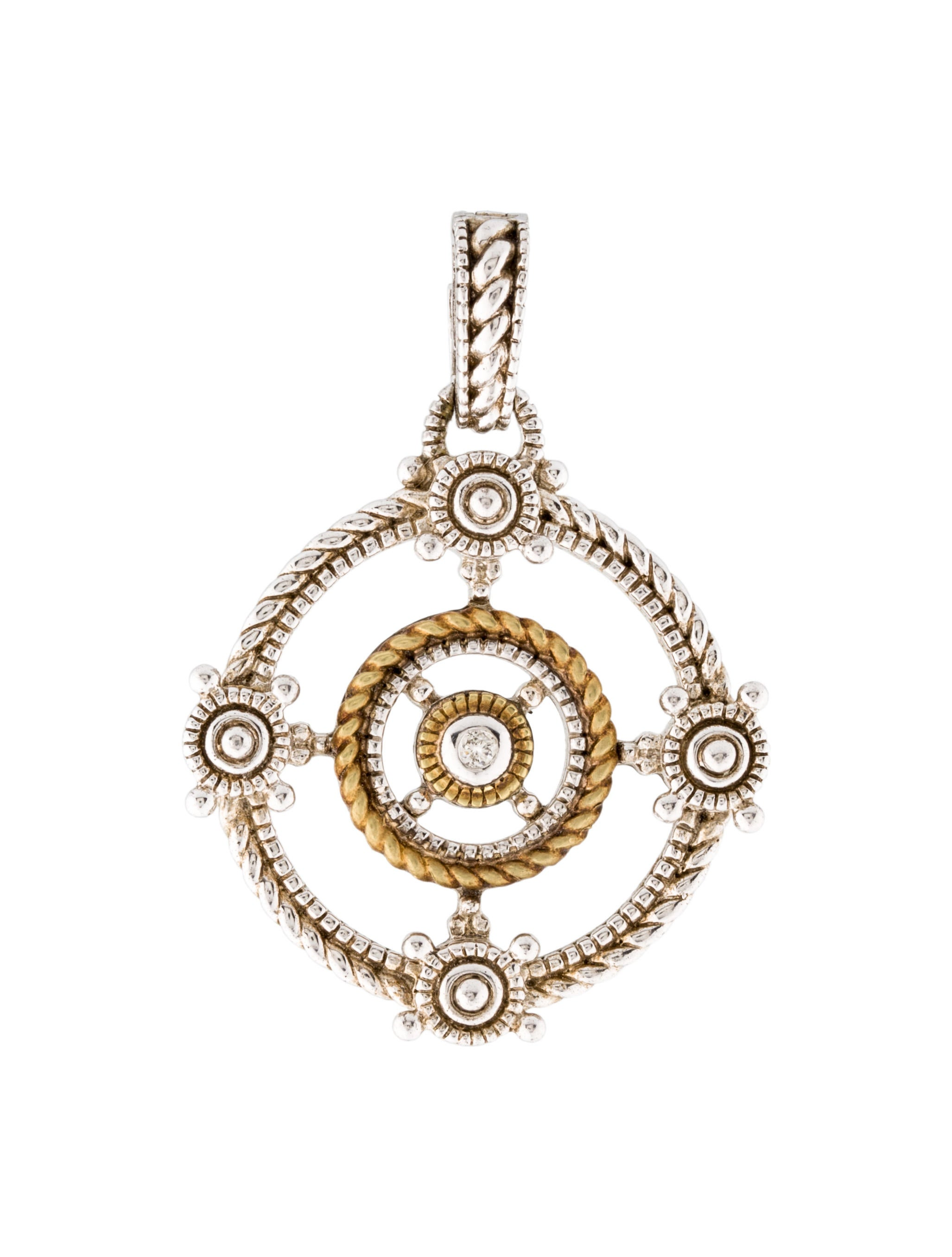 necklace gold in judith canary carat pendant quartz ripka itm diamond yellow