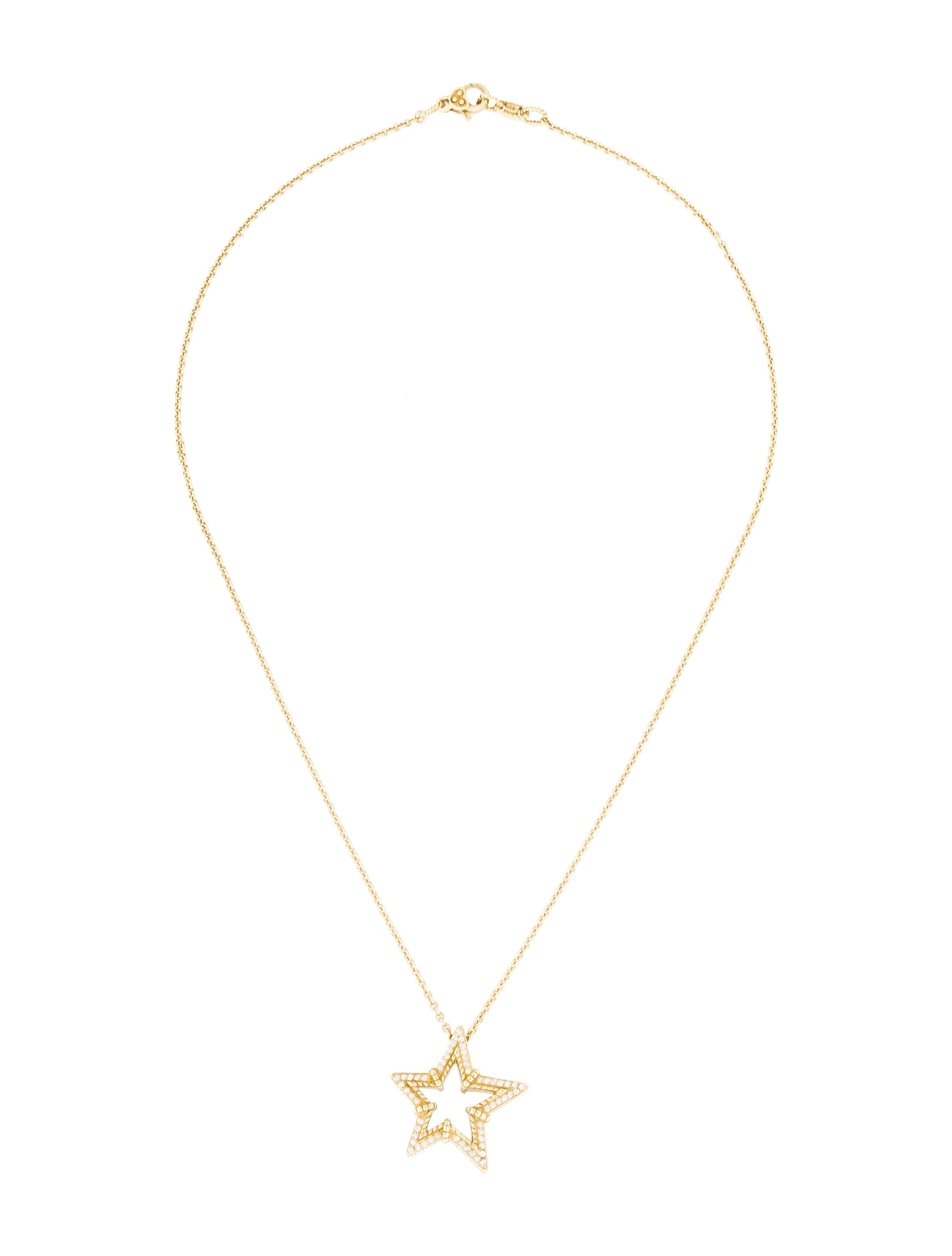 Judith Ripka 18K Diamond Star Pendant Necklace Necklaces
