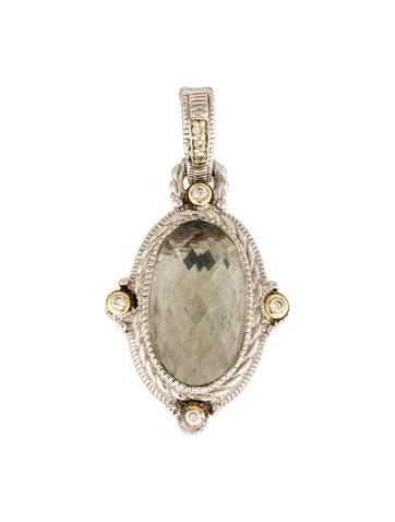 Judith Ripka Prasiolite & Diamond Pendant