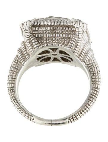 judith ripka white sapphire pav 233 linen cushion ring