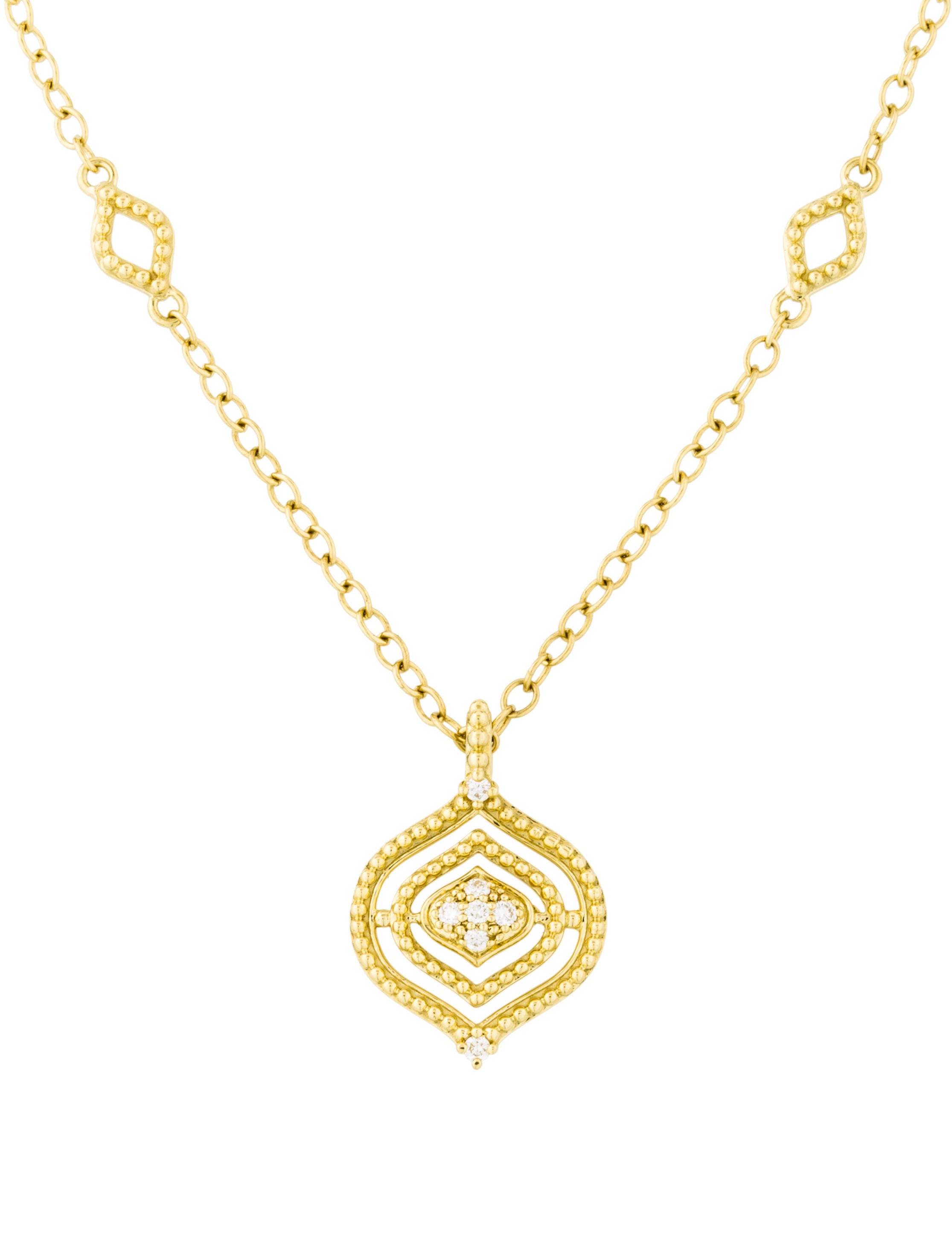 judith ripka 18k stella small diamond pendant necklace. Black Bedroom Furniture Sets. Home Design Ideas