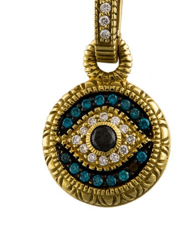 Judith Ripka 18k Diamond Evil Eye Pendant Necklaces
