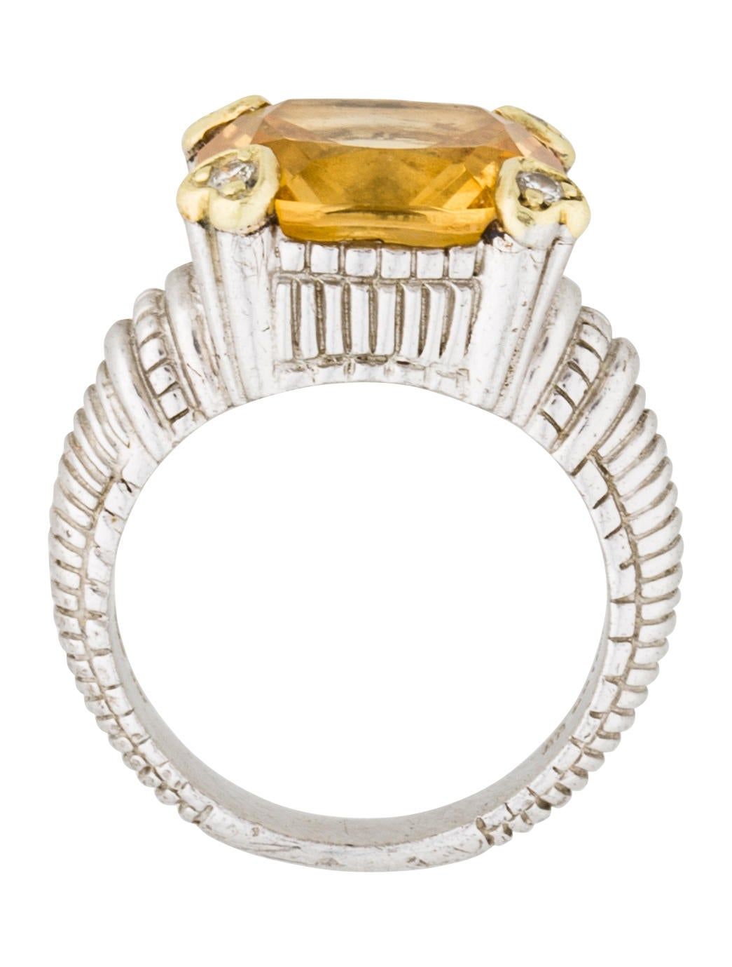judith ripka citrine amp diamond cocktail ring rings