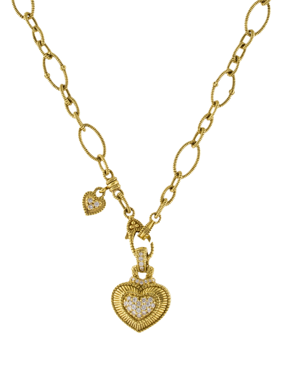 Judith ripka diamond heart pendant necklace necklaces jrk23930 diamond heart pendant necklace aloadofball Choice Image