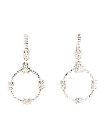 Judith Ripka White Sapphire Drop Earrings None
