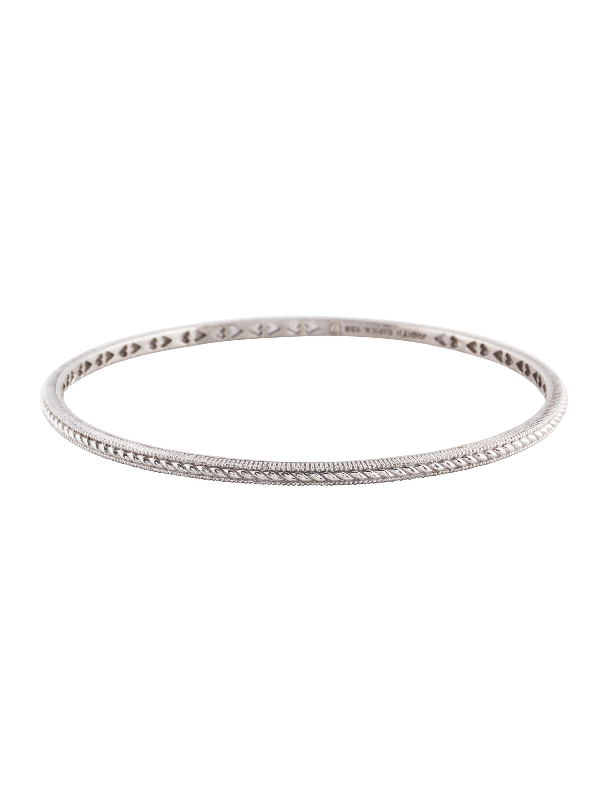 Jewelry Bracelets Judith Ripka Thin Textured Bangle