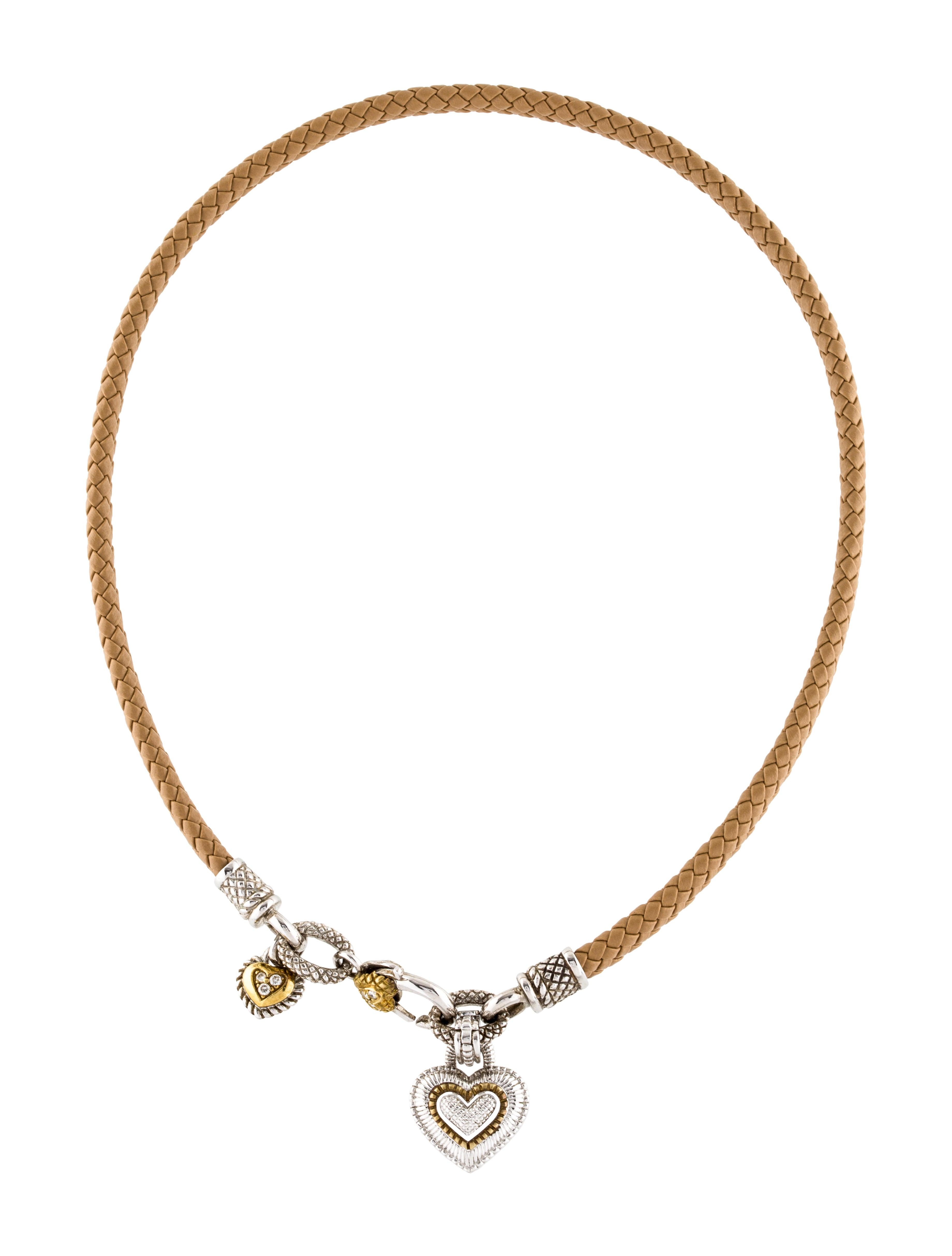 Judith ripka 18k diamond heart pendant necklace necklaces 18k diamond heart pendant necklace aloadofball Images