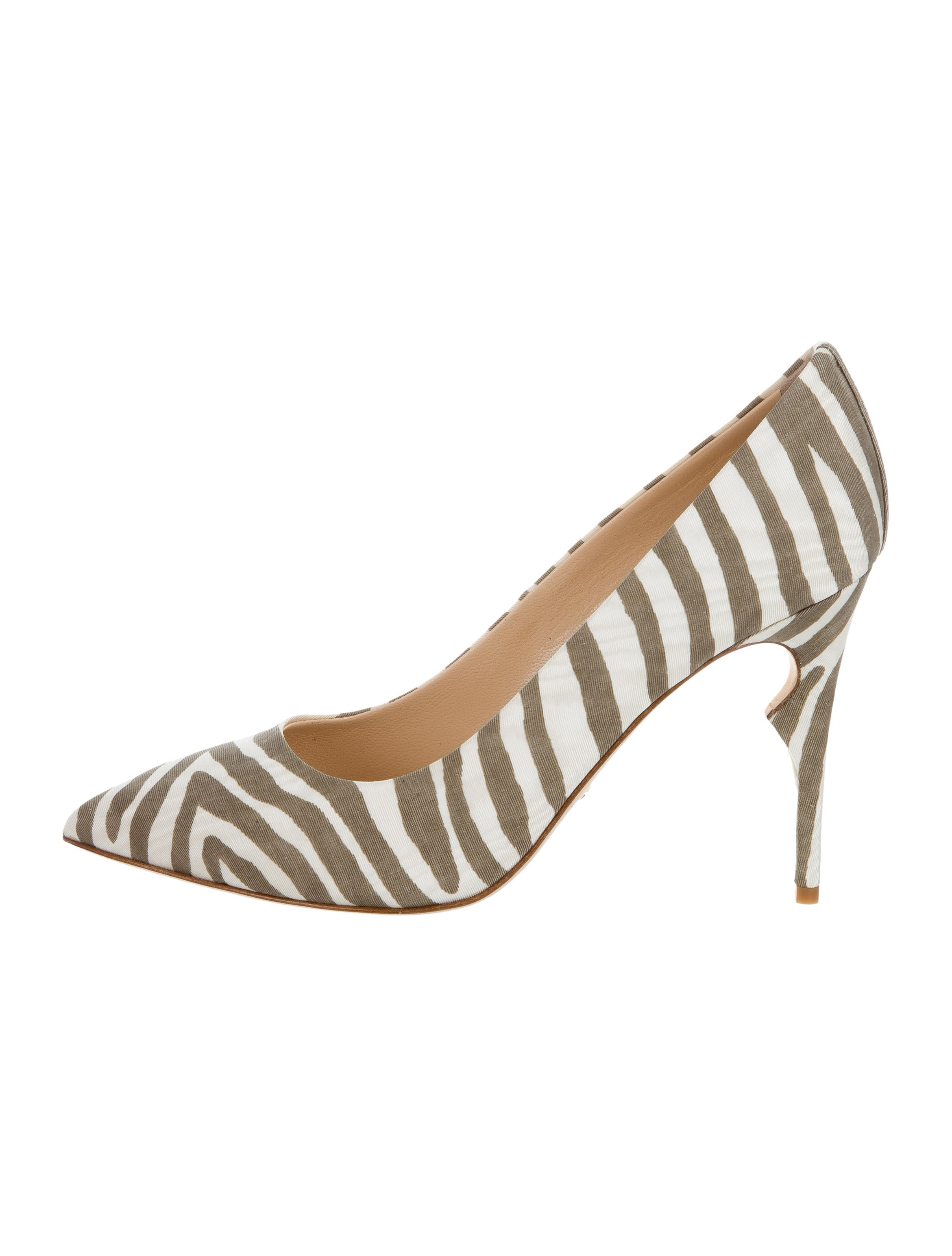 footlocker sale online buy cheap fast delivery Jerome C. Rousseau Zebra Print Pointed-Toe Pumps discount the cheapest buy cheap with paypal GRy0F