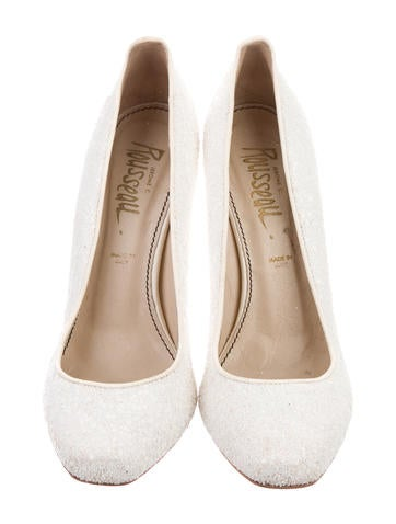Sequined Round-Toe Pumps