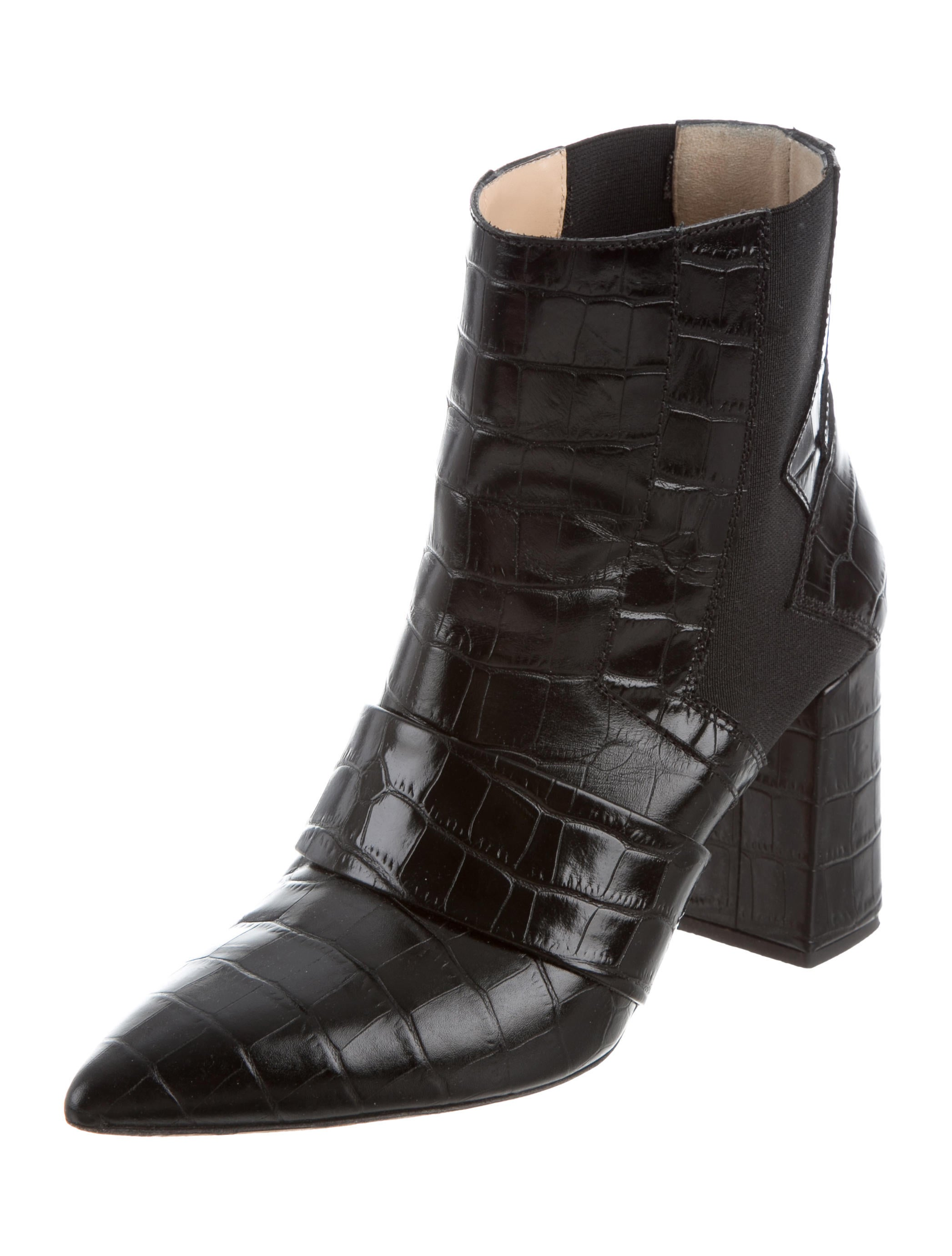 Jerome C. Rousseau Embossed Pointed-Toe Ankle Boots buy cheap cheap get authentic cheap price cheap really discount clearance store supply sale online h2X9lBWW2C
