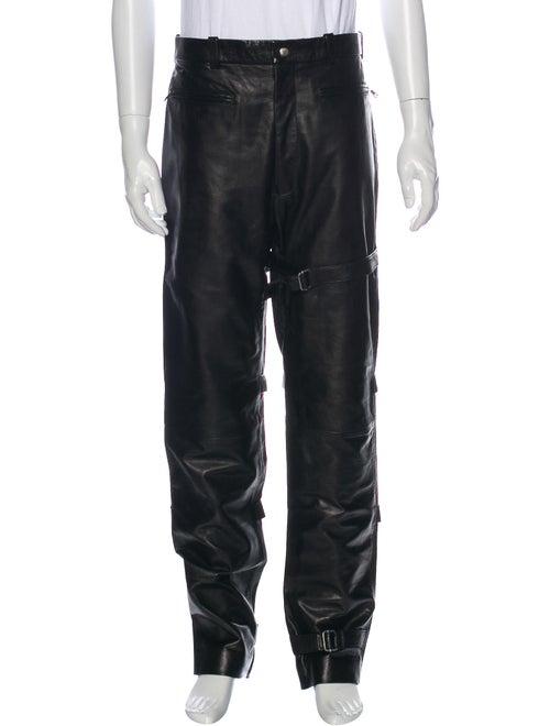 John Richmond Leather Pants Black