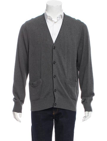 Jack Spade Rib Knit Button-Up Cardigan None