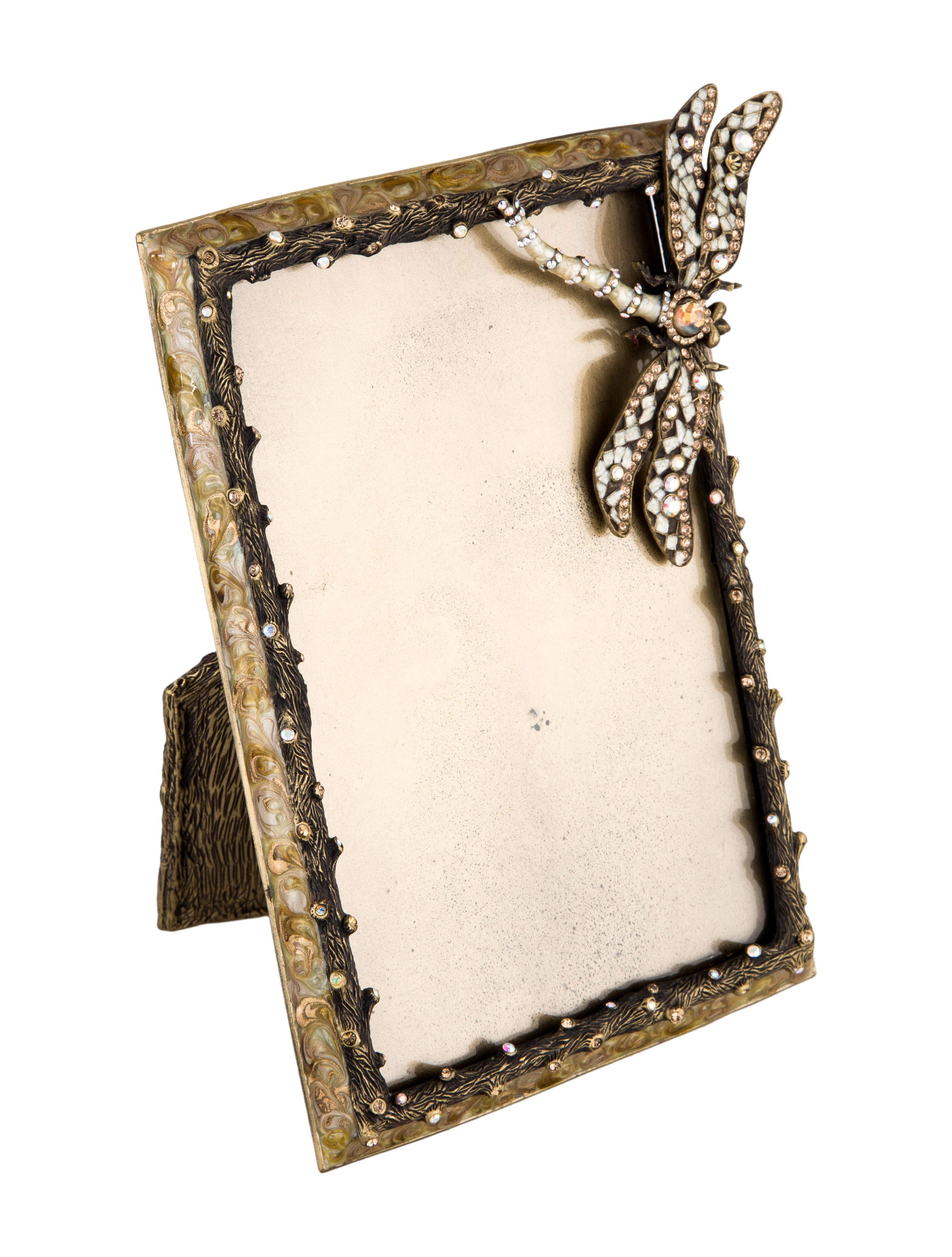 Jay strongwater embellished frame decor and accessories for Embellished mirror frame
