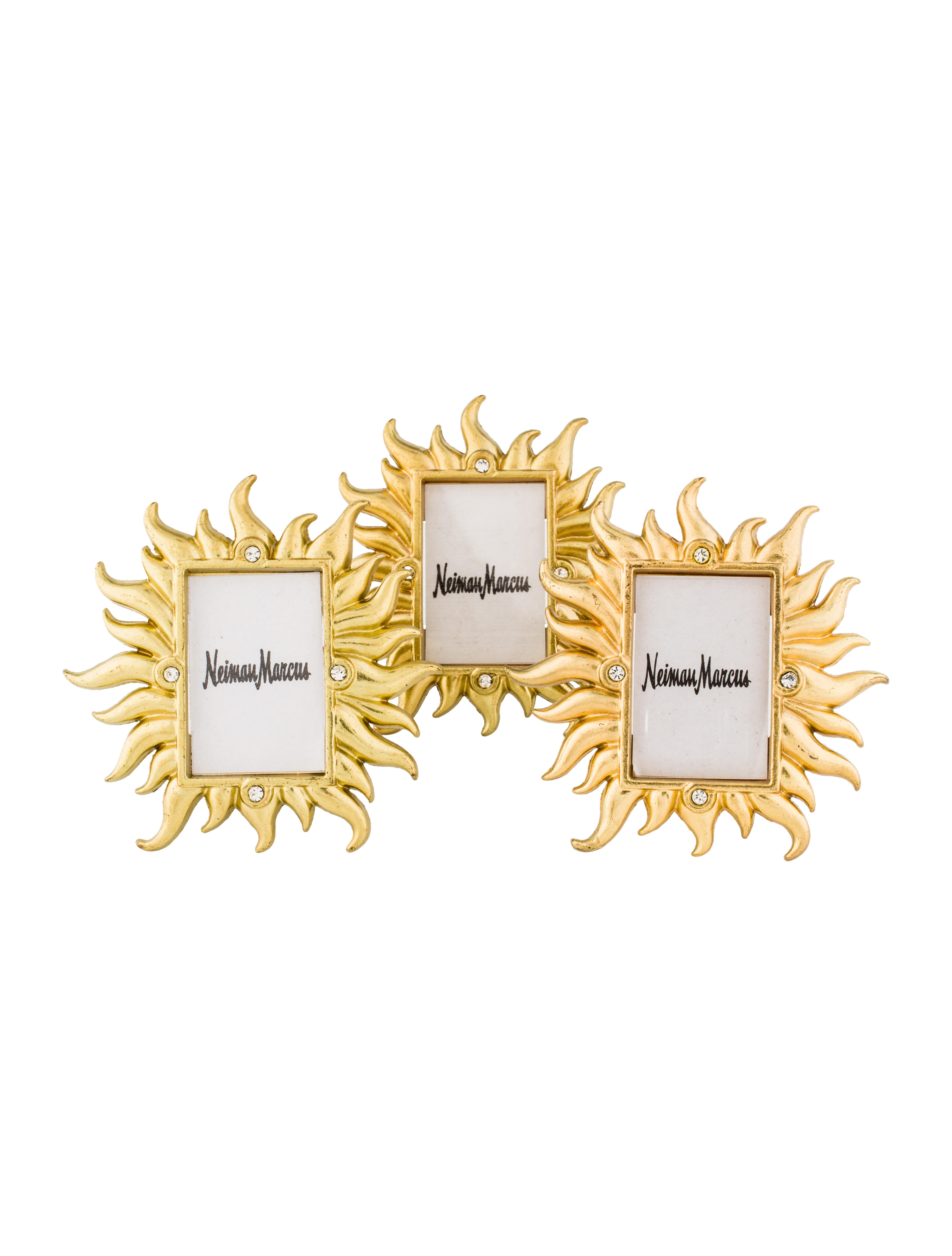 Jay Strongwater 3-Piece Miniature Embellished Frame Set - Decor And ...