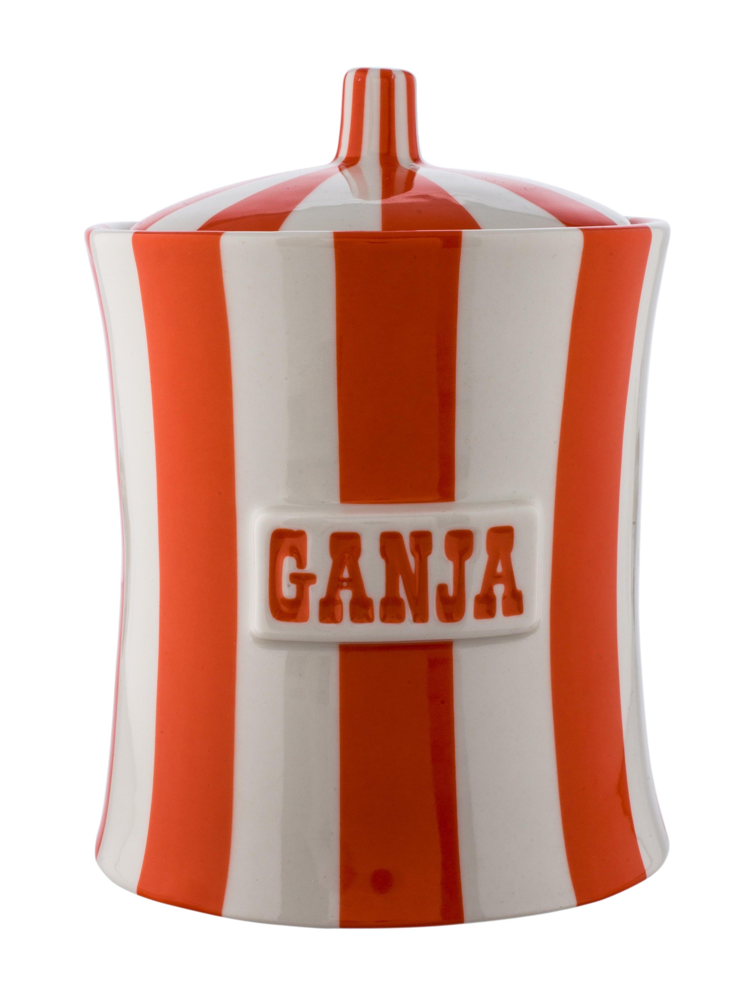Accessories Jonathan Adler Ganja Ceramic Canister Ganja Ceramic Canister