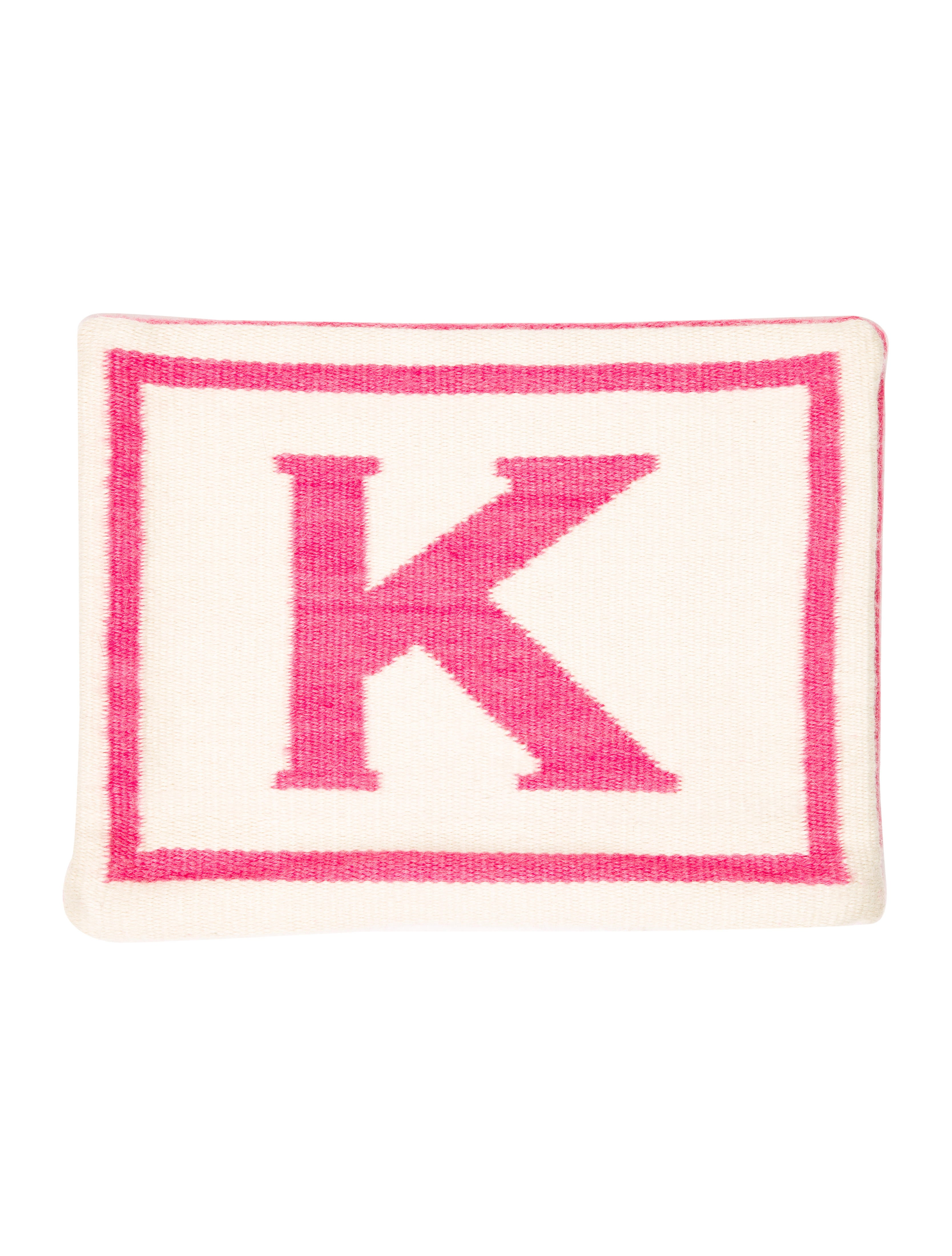 Throw Pillows With Letters : Jonathan Adler Reversible Junior Letter Throw Pillow Case w/ Tags - Bedding And Bath ...