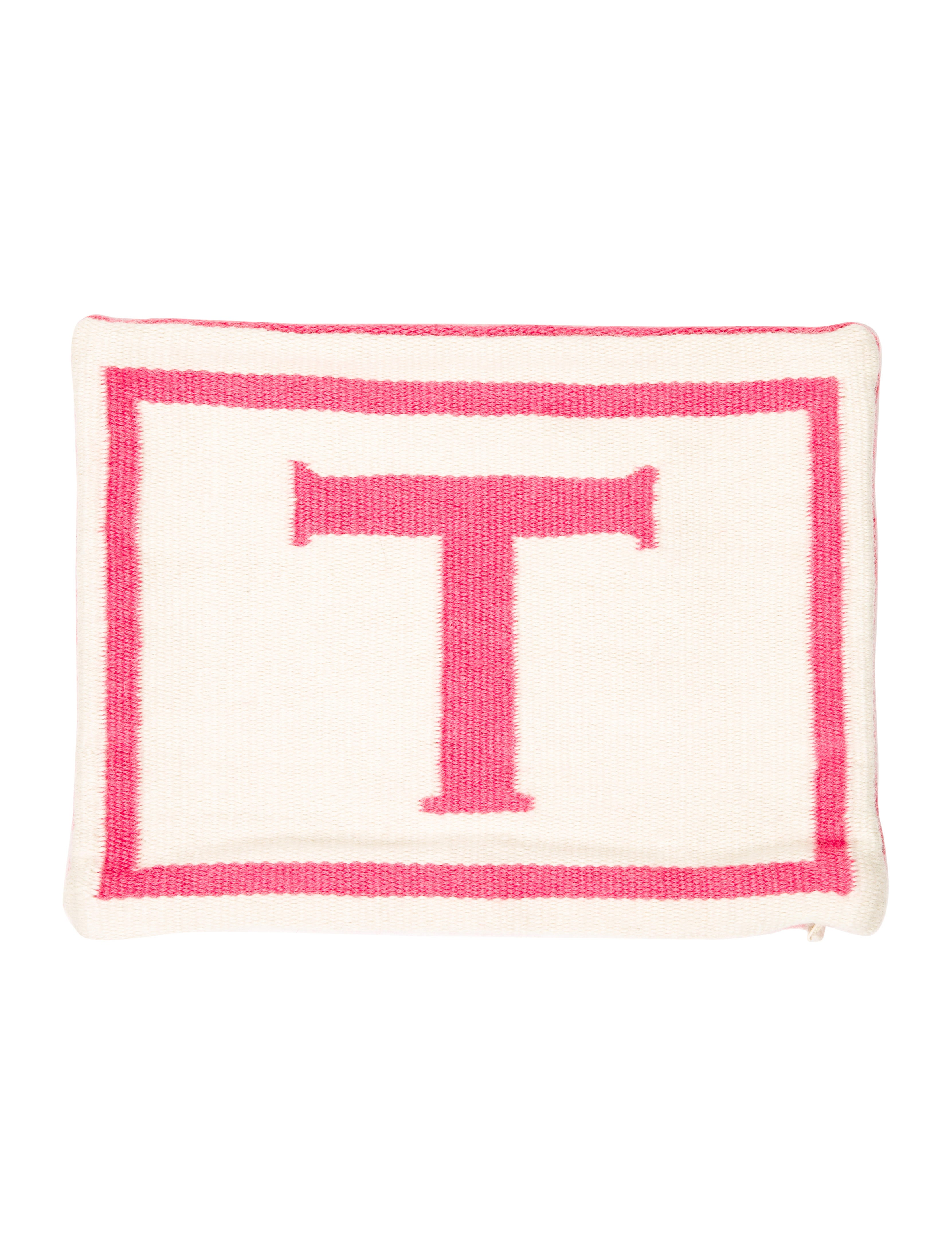Letter T Throw Pillow : Jonathan Adler Reversible Junior Letter Throw Pillow Case w/ Tags - Bedding And Bath ...