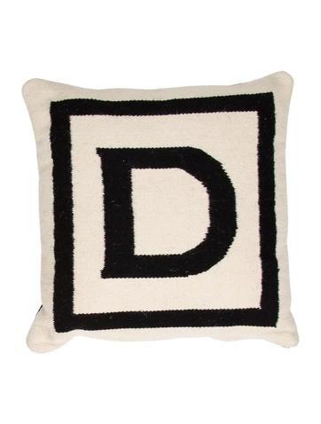 Letter L Throw Pillow : Jonathan Adler Letter Throw Pillow - Bedding And Bath - JTADL20602 The RealReal