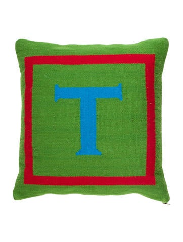 Letter T Throw Pillow : Jonathan Adler Letter Throw Pillow - Bedding And Bath - JTADL20606 The RealReal