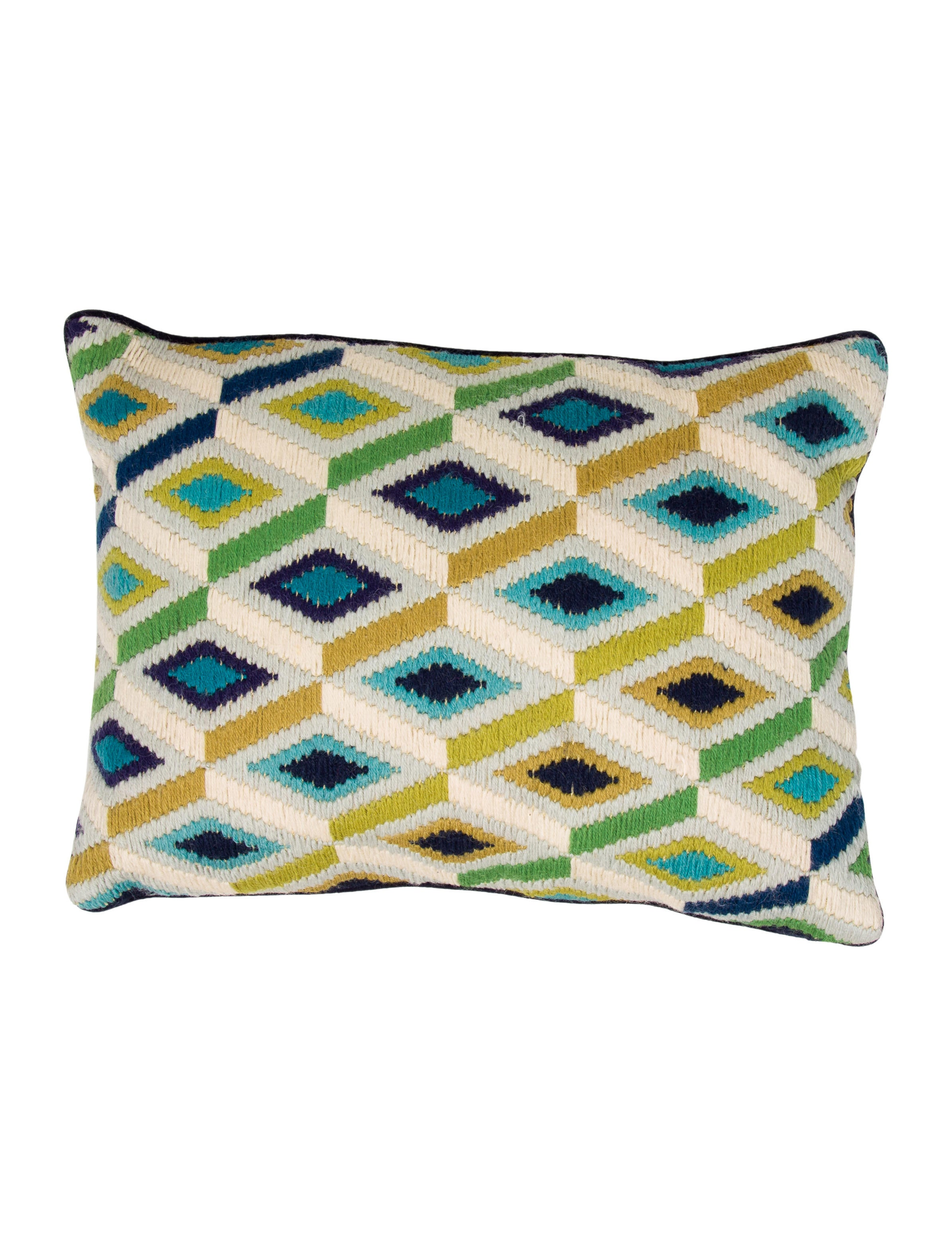 Throw Pillows Justice : Jonathan Adler Needlepoint Throw Pillow - Bedding And Bath - JTADL20622 The RealReal