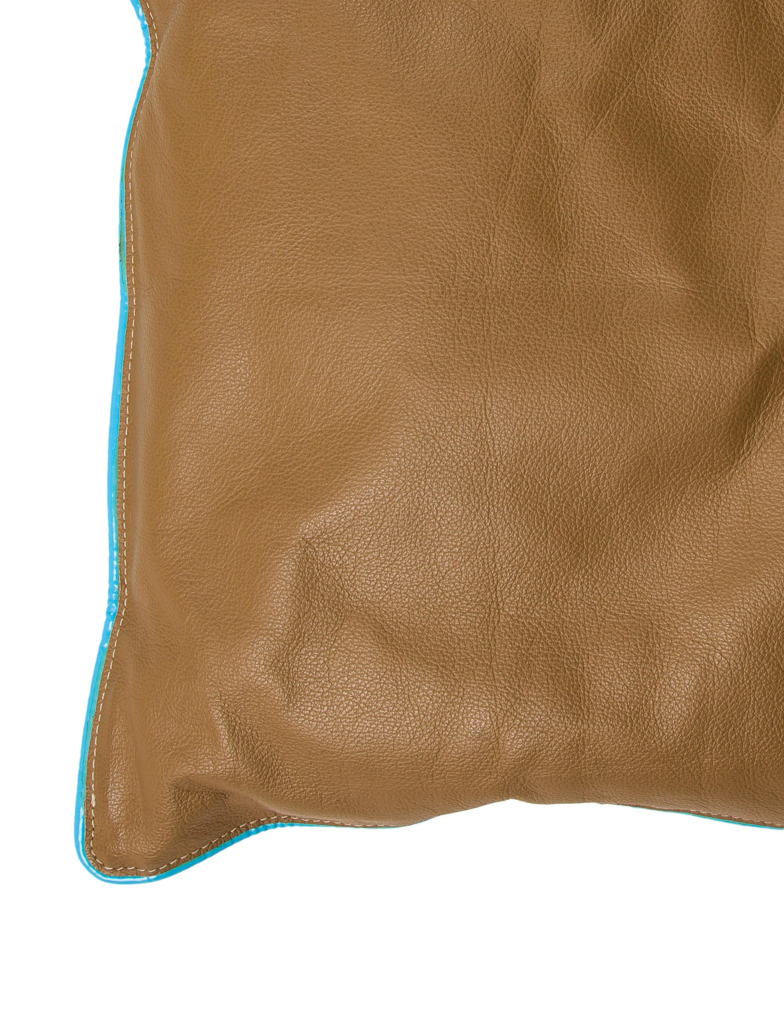 Jonathan Adler Leather-Paneled Throw Pillow - Bedding And Bath - JTADL20652 The RealReal