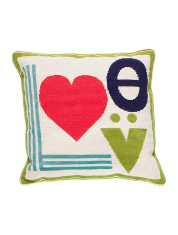 Jonathan Adler Mod Love Needlepoint Throw Pillow - Pillows And Throws - JTADL20662 The RealReal