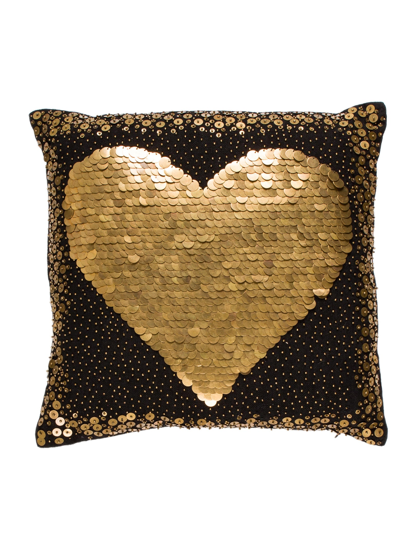 Throw Pillows Justice : Jonathan Adler Black Heart Throw Pillow - Pillows And Throws - JTADL20698 The RealReal