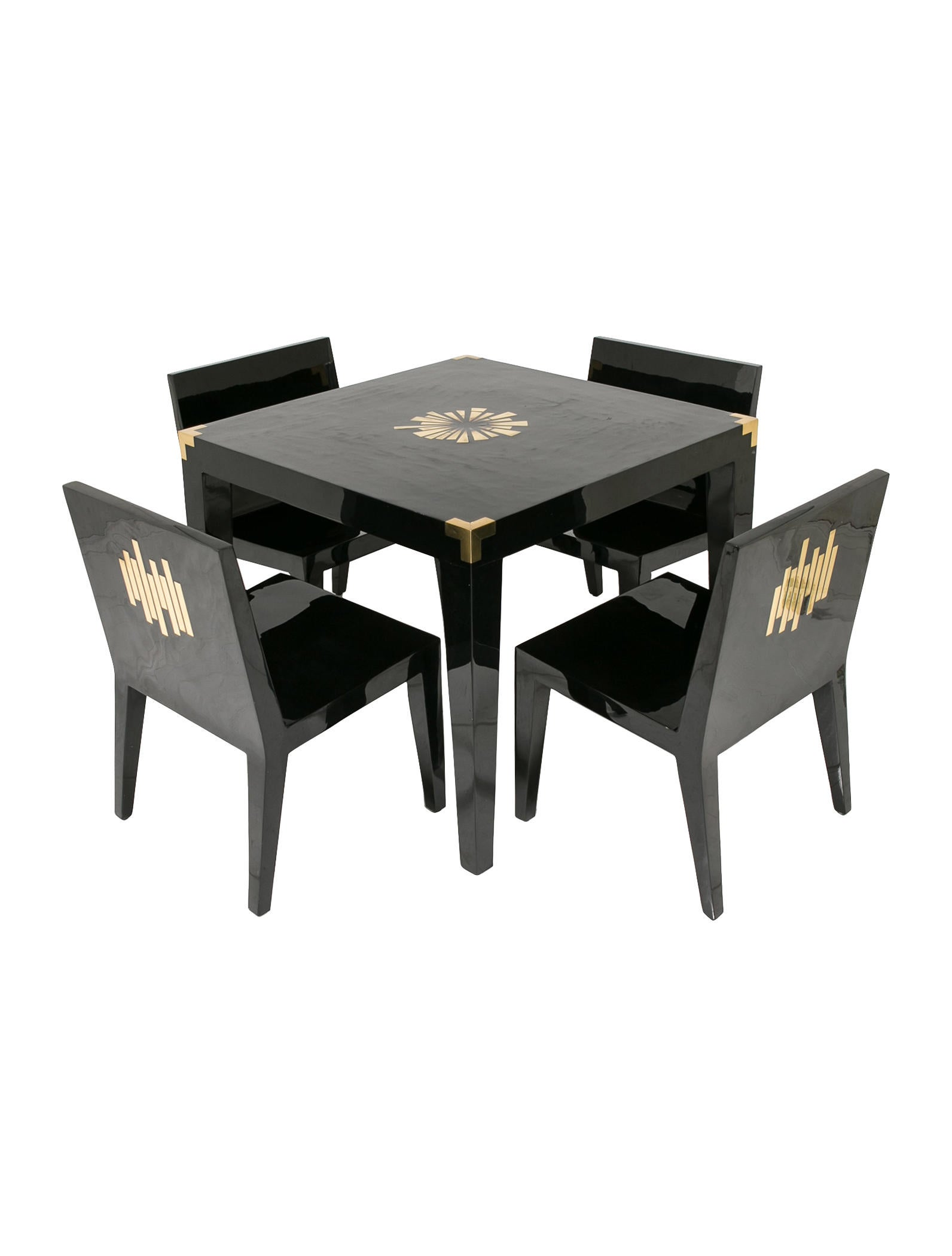Jonathan Adler Monaco Game Table And Chairs Set