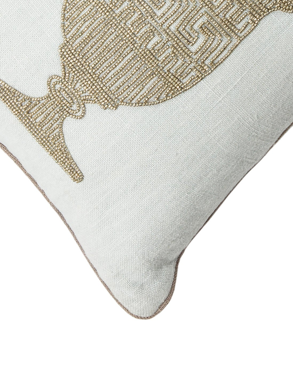Beaded Grey Throw Pillow : Jonathan Adler Beaded Throw Pillow - Bedding And Bath - JTADL20724 The RealReal