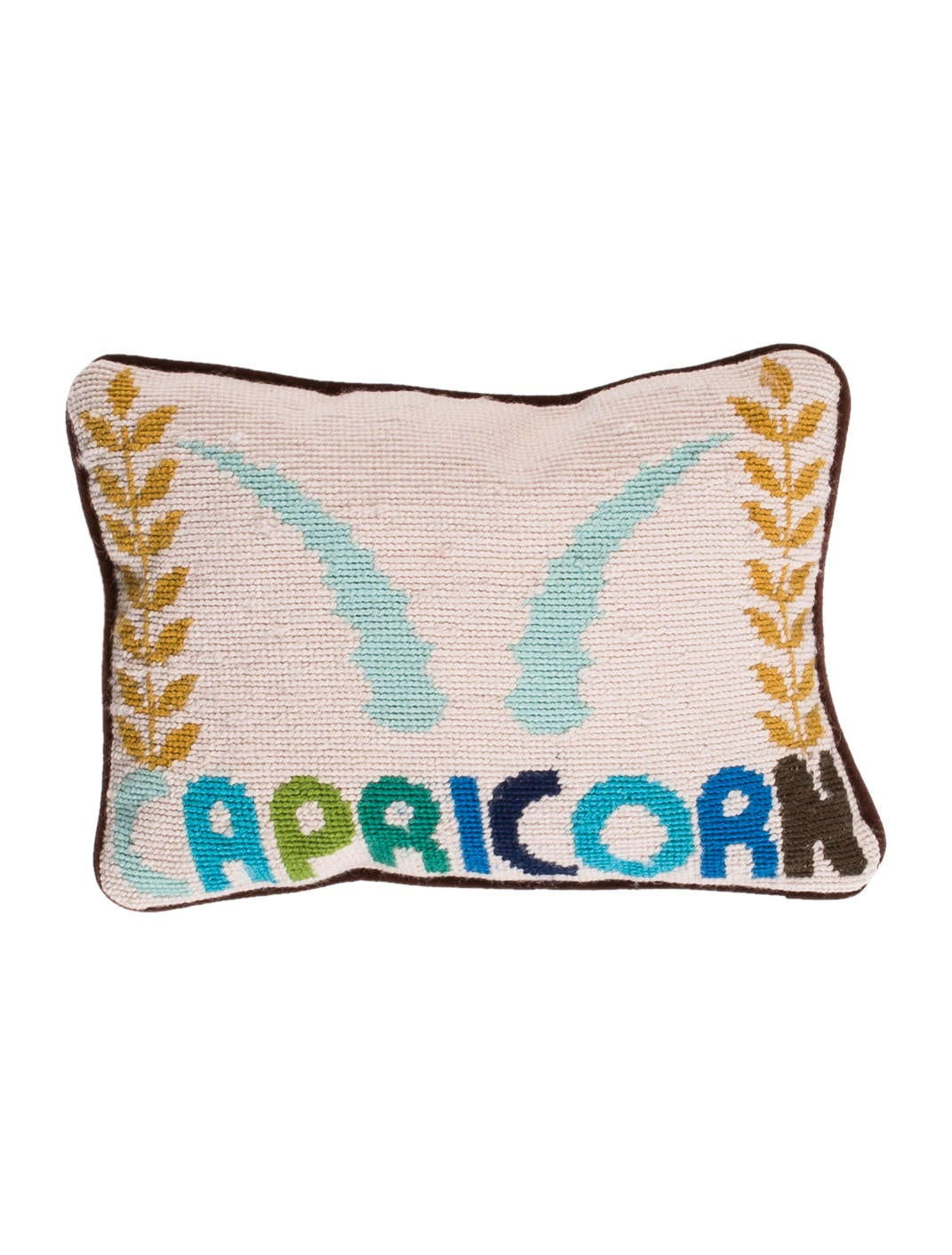 Throw Pillows Justice : Jonathan Adler Capricorn Needlepoint Throw Pillow - Bedding And Bath - JTADL20739 The RealReal