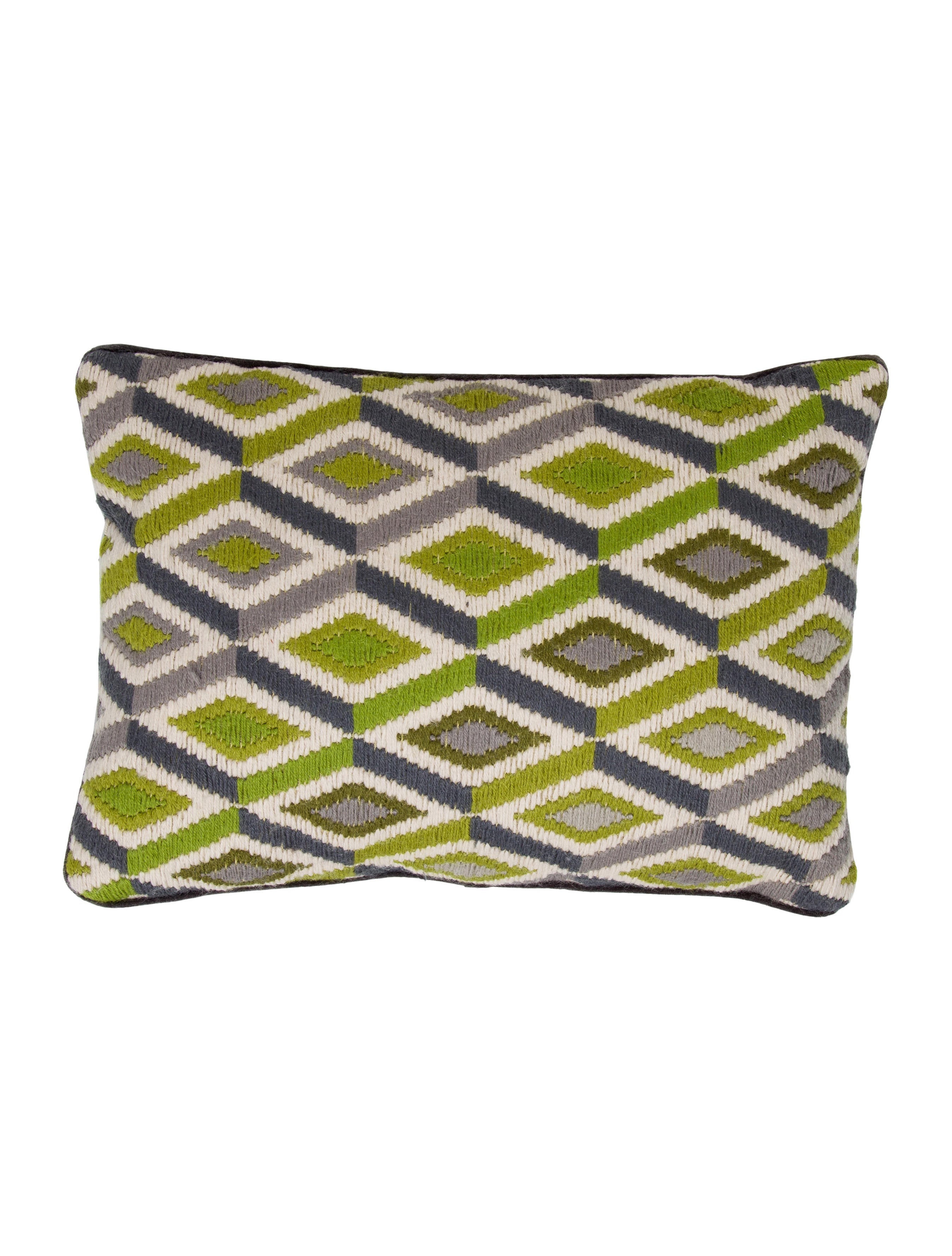 Throw Pillows Justice : Jonathan Adler Ikat Throw Pillow - Bedding And Bath - JTADL20750 The RealReal