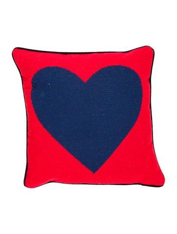 Jonathan Adler Needlepoint Heart Throw Pillow None